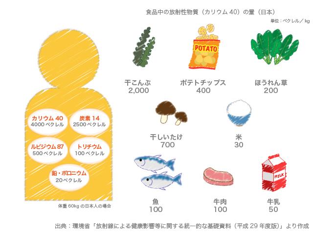 体の中の放射能の量
